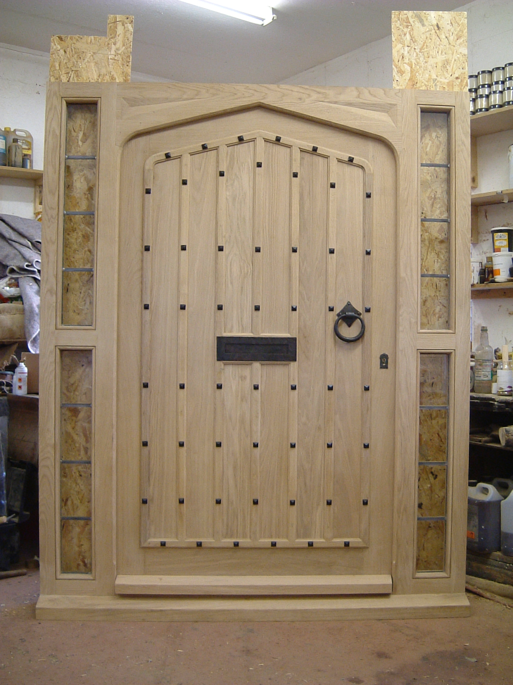 Arched Oak Door